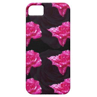 Funda Para iPhone SE/5/5s Rosas fuertes y modelo subió negro de la capa,