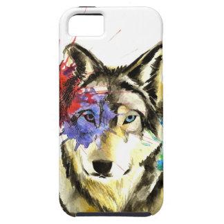 Funda Para iPhone SE/5/5s Salpicadura del lobo