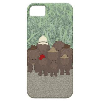 Funda Para iPhone SE/5/5s SE del iPhone de los hipopótamos + iPhone 5/5S,