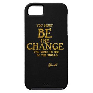 Funda Para iPhone SE/5/5s Sea el cambio - cita inspirada de la acción de