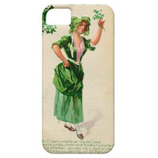 Funda Para iPhone SE/5/5s Señora original del día de San Patricio en verde