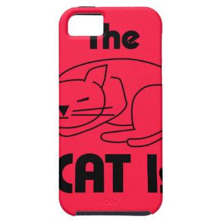 Funda Para iPhone SE/5/5s ¡SHUSH! El gato está durmiendo