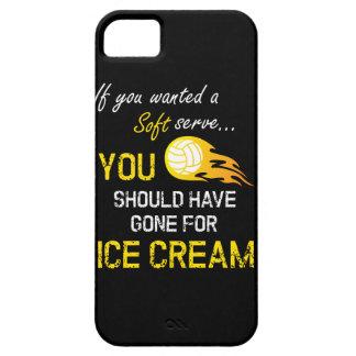 Funda Para iPhone SE/5/5s Si usted quiso un suave sirva el helado - voleibol