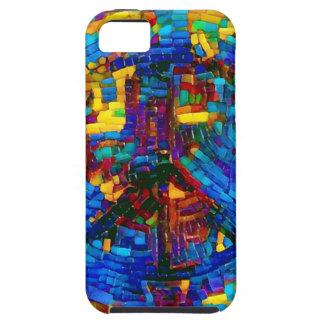 Funda Para iPhone SE/5/5s Símbolo de paz colorido del mosaico
