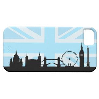 Funda Para iPhone SE/5/5s Sitios de Londres en el cielo azul de Union Jack