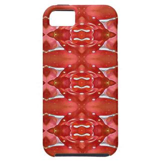 Funda Para iPhone SE/5/5s Sombras del diseño festivo moderno rojo