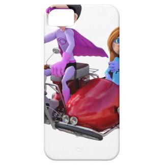 Funda Para iPhone SE/5/5s Super héroes en un ciclomotor con un coche lateral
