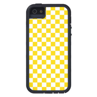 Funda Para iPhone SE/5/5s Tablero de damas amarillo