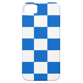 Funda Para iPhone SE/5/5s Tableros de damas azules y blancos