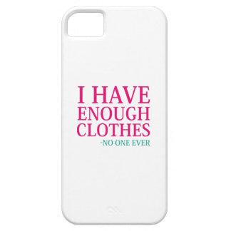 Funda Para iPhone SE/5/5s Tengo bastante ropa