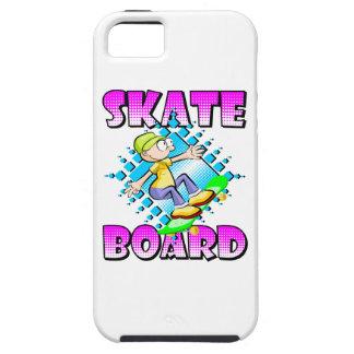 Funda Para iPhone SE/5/5s Texto rosado del monopatín con el patinaje del