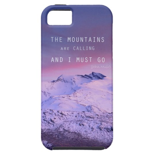 Funda Para iPhone SE/5/5s The mountains are calling, and i must go. John Mui