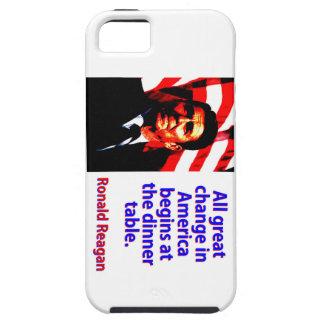 Funda Para iPhone SE/5/5s Todo el gran cambio en América - Ronald Reagan