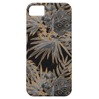Funda Para iPhone SE/5/5s tono naranja del estampado de plores tropical