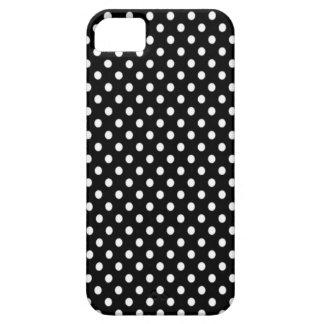 Funda Para iPhone SE/5/5s Topos blancos sobre fondo negro.