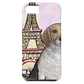Funda Para iPhone SE/5/5s torre Eiffel París del beagle