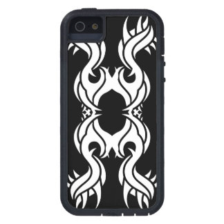 Funda Para iPhone SE/5/5s Tribal iphone 10 white over black
