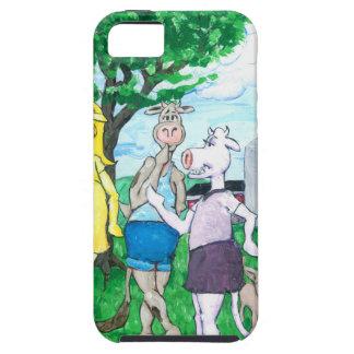 Funda Para iPhone SE/5/5s Vacas lecheras que llevan la ropa de calle
