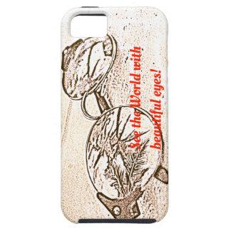 Funda Para iPhone SE/5/5s Vea el mundo con espec. hermosas cas móvil de los