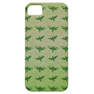 Funda Para iPhone SE/5/5s Verde de la mariposa+azul