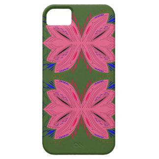 Funda Para iPhone SE/5/5s Verde del rosa de los elementos del diseño