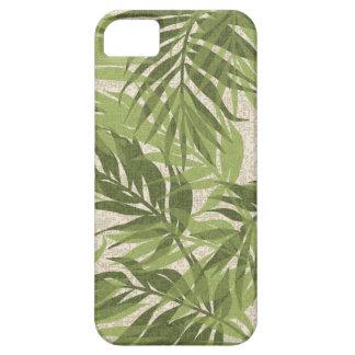 Funda Para iPhone SE/5/5s Verde tropical hawaiano del vintage de las palmas