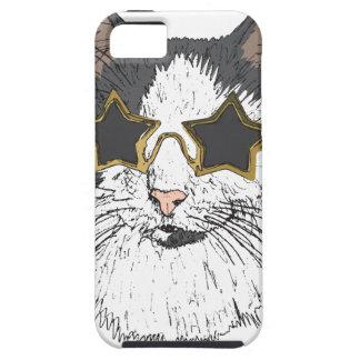 Funda Para iPhone SE/5/5s Vidrios de la estrella del gato que llevan