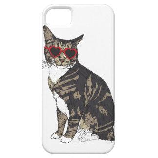 Funda Para iPhone SE/5/5s Vidrios del corazón del gato que llevan