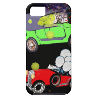 Funda Para iPhone SE/5/5s Viejo un montón del coche de la moda de pelotas de