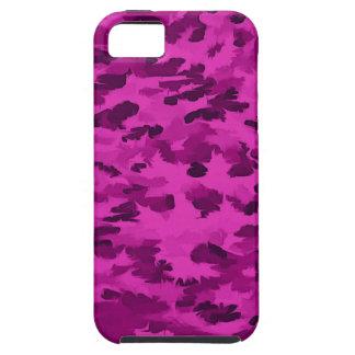 Funda Para iPhone SE/5/5s Violeta abstracta del arte pop del follaje