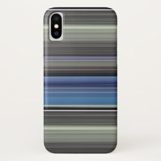 Funda Para iPhone X #1 abstracto: Azul y gris