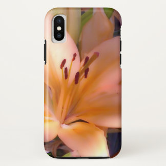 Funda Para iPhone X A - Lirio anaranjado sombreado hermoso