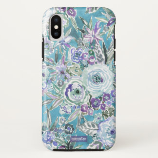 Funda Para iPhone X Aguamarina violeta mística del MODO DE PENSAR de