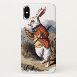 Funda Para iPhone X Alicia en conejo del blanco del país de las