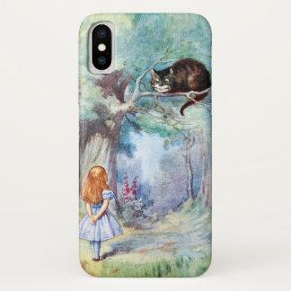 Funda Para iPhone X Alicia en el gato de Cheshire del país de las