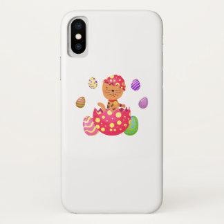 Funda Para iPhone X Amante divertido del gato del regalo de Pascua del
