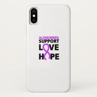 Funda Para iPhone X Amor púrpura de la ayuda de la cinta de la