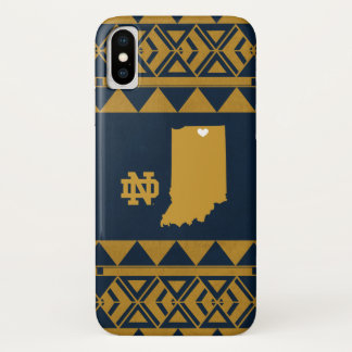 Funda Para iPhone X Amor tribal del estado de Notre Dame el |