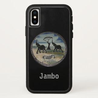 Funda Para iPhone X Animales salvajes de la vida de Jambo Kenia