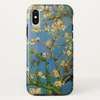 Funda Para iPhone X Árbol de almendra floreciente de Van Gogh, bella