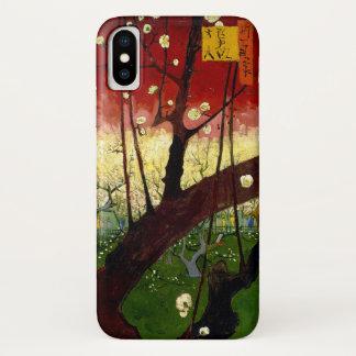 Funda Para iPhone X Árbol de ciruelo floreciente después de Hiroshige
