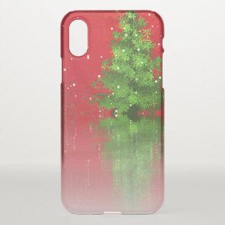 Funda Para iPhone X Árbol de navidad en una caja roja del iPhone X del