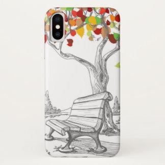 Funda Para iPhone X Árbol del otoño, hojas que caen