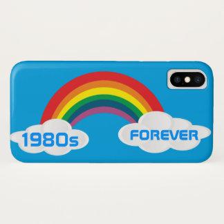 Funda Para iPhone X Arco iris retro de los años 80 de la caja de la