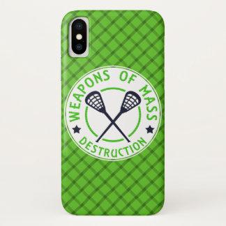 Funda Para iPhone X Armas de LaCrosse de la caja del teléfono de la