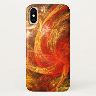 Funda Para iPhone X Arte abstracto de Nova de la tormenta de fuego