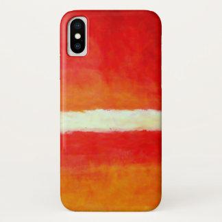 Funda Para iPhone X Arte abstracto moderno - blanco amarillo rojo