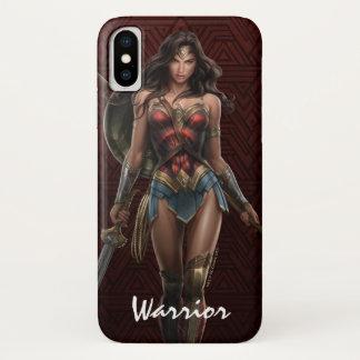 Funda Para iPhone X Arte cómico Batalla-Listo de la Mujer Maravilla