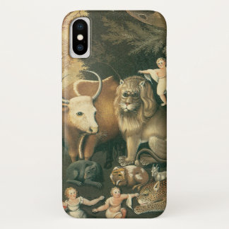 Funda Para iPhone X Arte del Victorian, reino apacible por los catetos