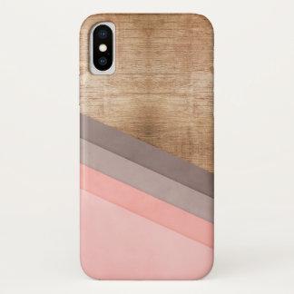 Funda Para iPhone X Arte geométrico de madera